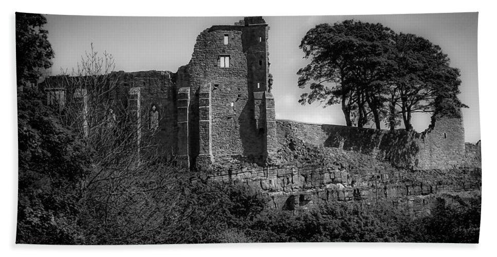 Barnard Castle Bath Sheet featuring the digital art Barnard Castle by Bert Mailer