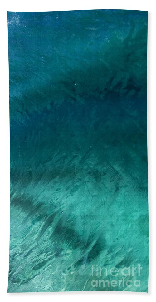Wave Hand Towel featuring the photograph Barrel Swirl - Triptych Part 3 Of 3 by Sean Davey