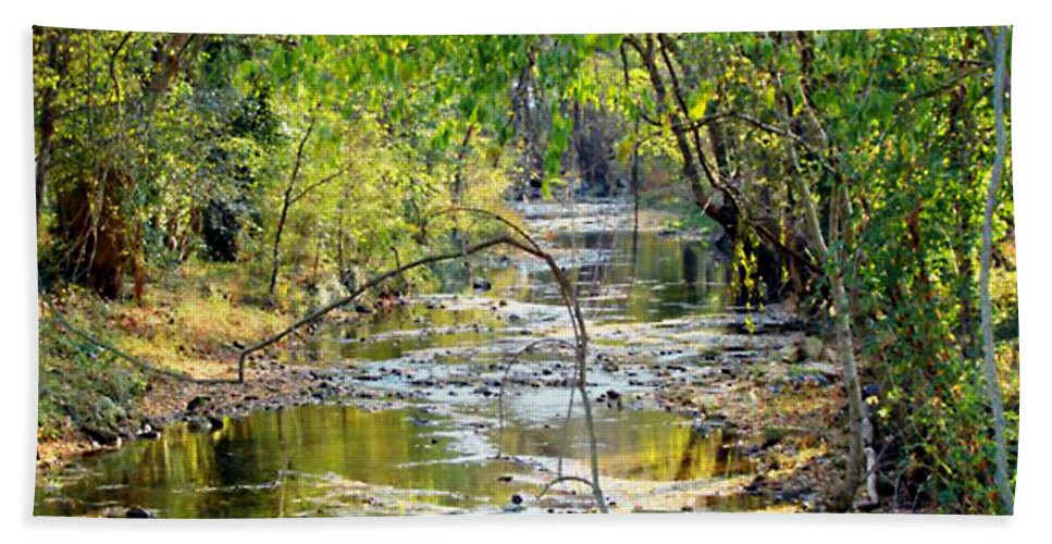 Creek Hand Towel featuring the photograph Barren Fork Creek by Terry Anderson