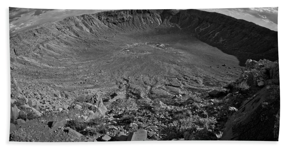 Meteor Hand Towel featuring the photograph Barringer Meteor Crater #7 by Robert J Caputo
