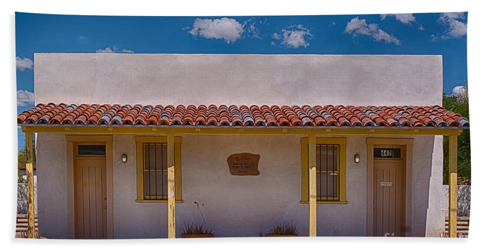 Barrio Viejo Bath Sheet featuring the photograph Barrio Viejo Symmetry by Priscilla Burgers
