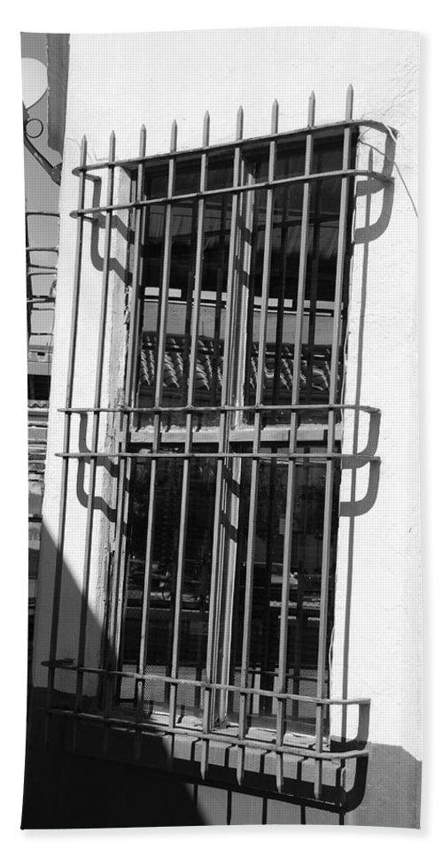 Train Station Bath Sheet featuring the photograph Bars by Rob Hans
