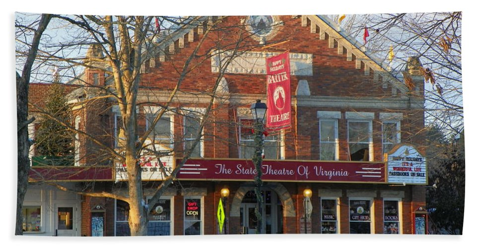 Barter Theatre Hand Towel featuring the photograph Barter Theatre by Karen Wiles
