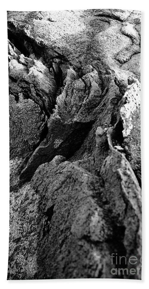 Basalt Hand Towel featuring the photograph Basalt Textures by Gaspar Avila