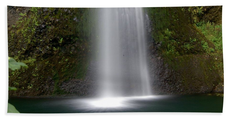 Waterfals Hand Towel featuring the photograph Base Of The Falls by Marty Koch