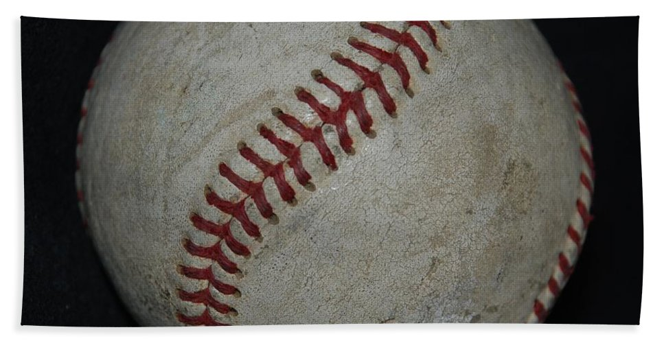 Pop Art Bath Sheet featuring the photograph Baseball by Rob Hans