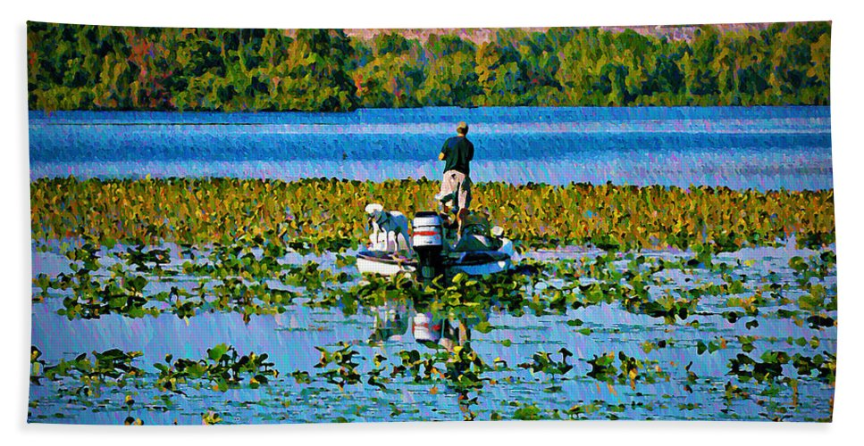 Sport Hand Towel featuring the photograph Bass Fishing by Bill Cannon