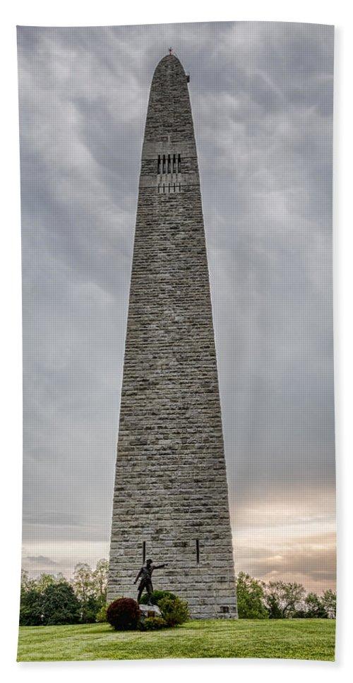 Bennington Bath Sheet featuring the photograph Battle Of Bennington Monument by Stephen Stookey