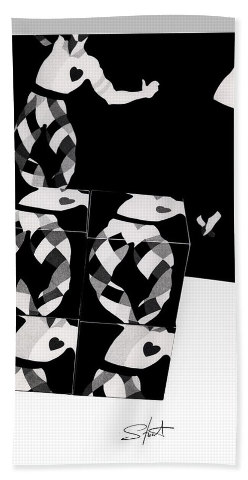 Dance Hand Towel featuring the photograph Bauhaus Ballet 2 The Cubist Harlequin by Charles Stuart