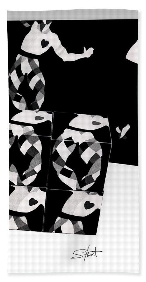 Dance Bath Towel featuring the photograph Bauhaus Ballet 2 The Cubist Harlequin by Charles Stuart