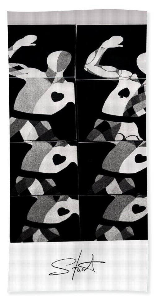 Dance Hand Towel featuring the photograph Bauhaus Ballet Six by Charles Stuart