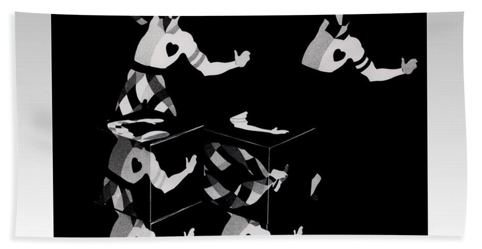 Dance Bath Towel featuring the photograph Bauhause Ballet by Charles Stuart