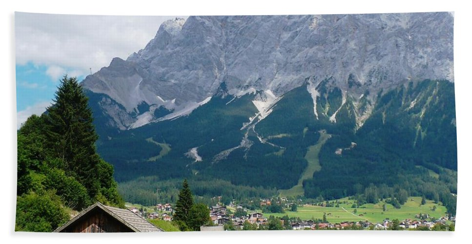 Landscape Hand Towel featuring the photograph Bavarian Alps Landscape by Carol Groenen