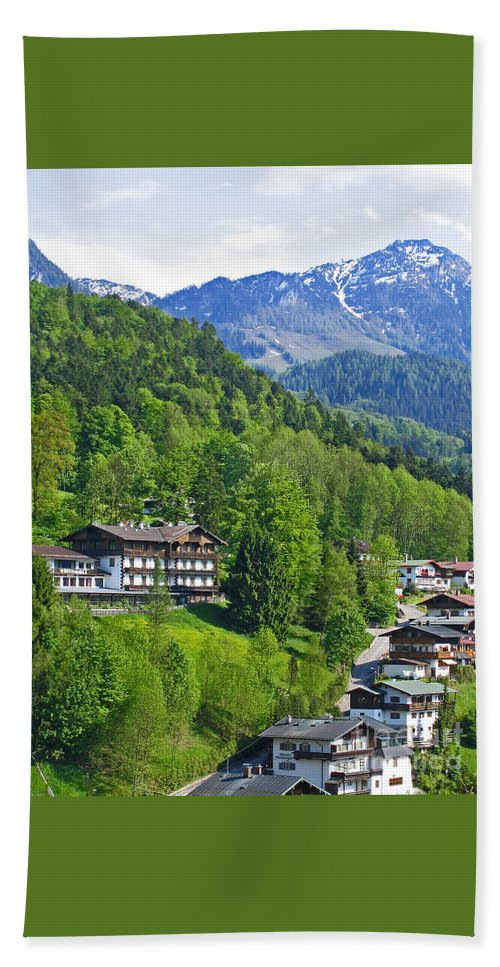 Germany Bath Sheet featuring the photograph Bavarian Mountainside by Ann Horn