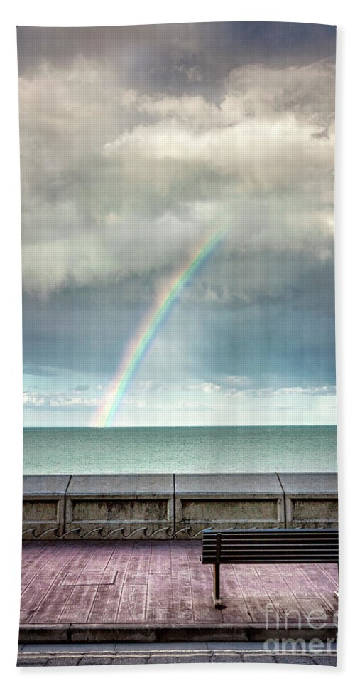 Kremsdorf Bath Towel featuring the photograph Bay Of Rainbows by Evelina Kremsdorf