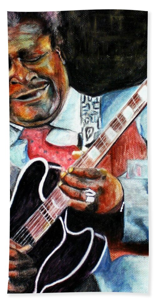 Bbking Bath Towel featuring the painting Bbking by Frances Marino
