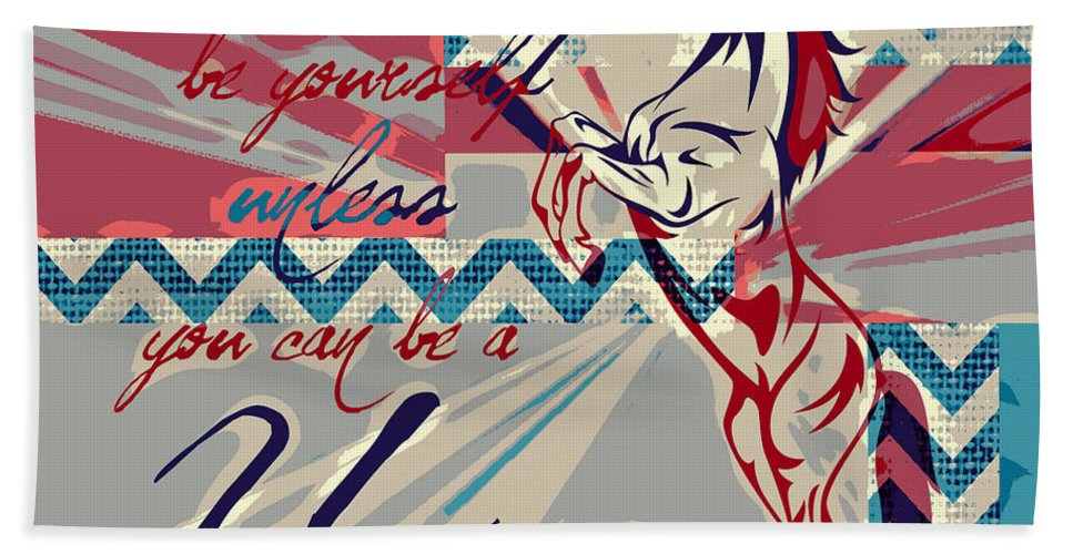Brandi Fitzgerald Hand Towel featuring the digital art Be A Unicorn 1 by Brandi Fitzgerald