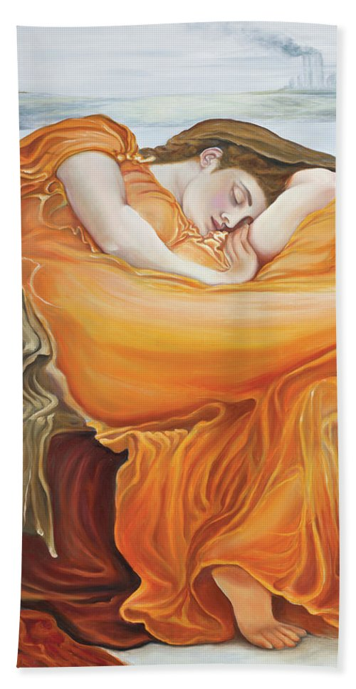 Christian Art Hand Towel featuring the painting Be Still by Elise Aleman