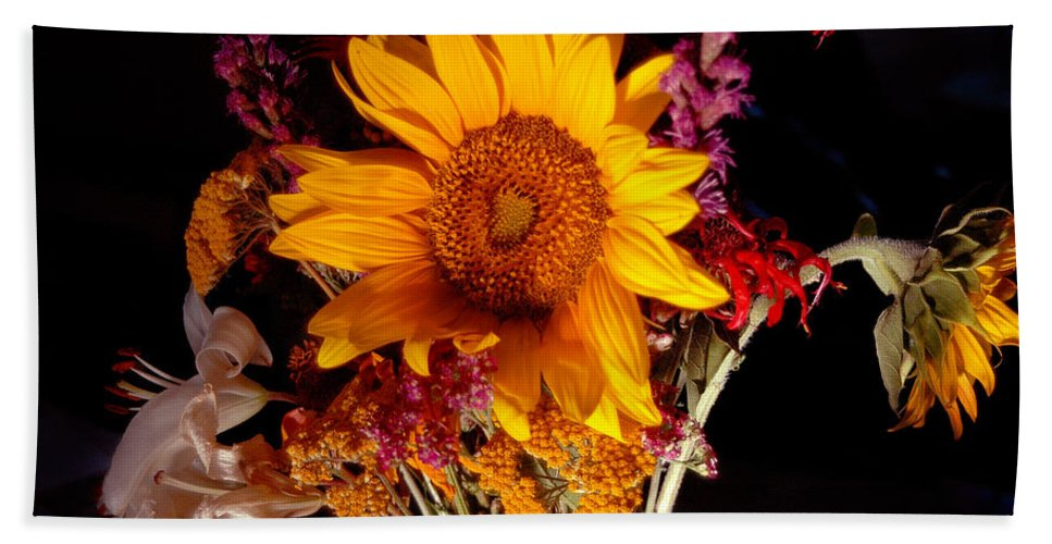 Sunflower Bath Sheet featuring the photograph Be Still by Trish Hale