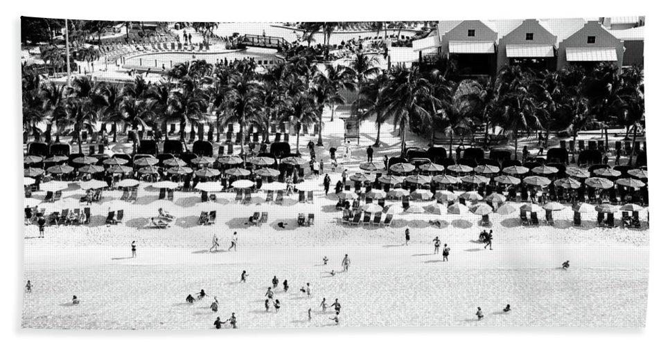 Grand Turk Bath Sheet featuring the photograph Beach At Grand Turk by Timothy Wildey
