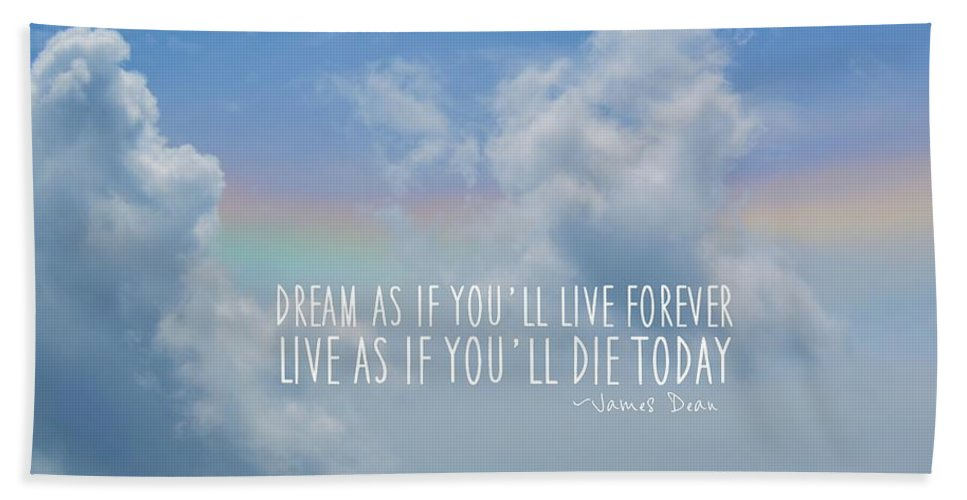 Blue Bath Sheet featuring the photograph Beach Blue Quote by JAMART Photography