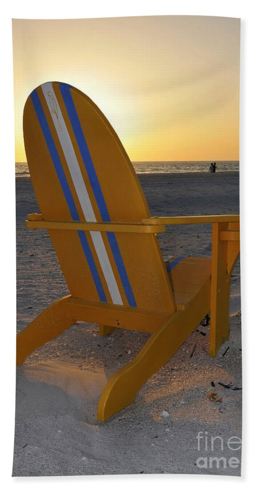 Beach Chair Bath Sheet featuring the photograph Beach Chair by David Lee Thompson