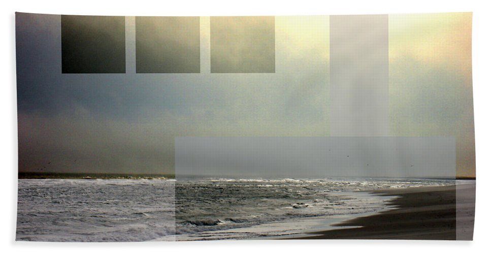 Beach Hand Towel featuring the photograph Beach Collage 2 by Steve Karol