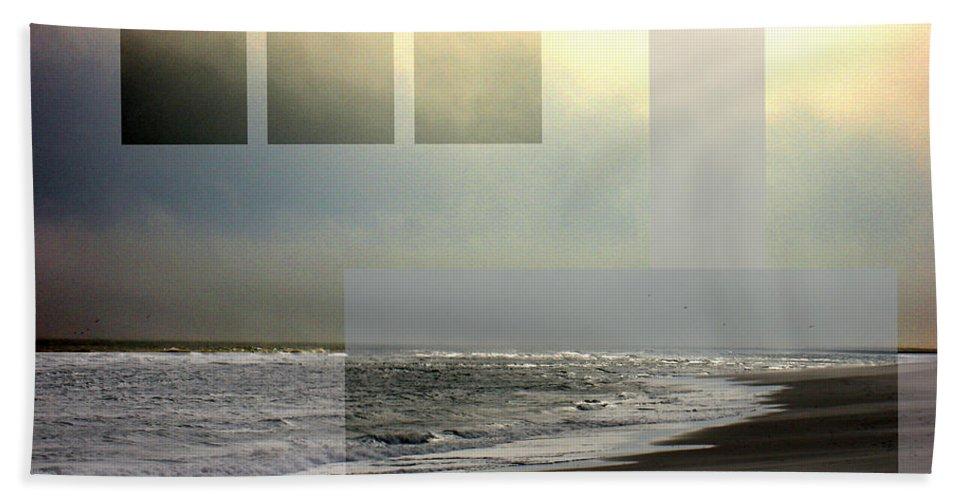 Beach Bath Sheet featuring the photograph Beach Collage 2 by Steve Karol