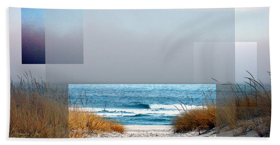 Beach Hand Towel featuring the photograph Beach Collage by Steve Karol