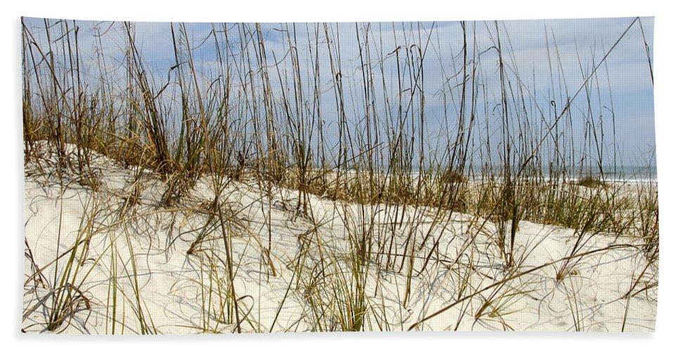 Beach Hand Towel featuring the photograph Beach Dunes by David Lee Thompson