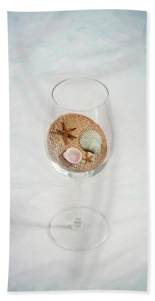 Still Life Hand Towel featuring the photograph Beach Glass by Sue Collura
