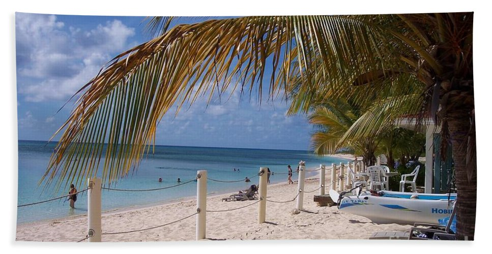 Beach Hand Towel featuring the photograph Beach Grand Turk by Debbi Granruth