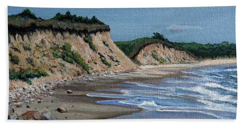 Beach Bath Sheet featuring the painting Beach by Paul Walsh