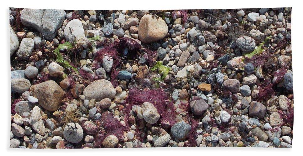 Beach Bath Sheet featuring the photograph Beach Pebbles by Kathleen Moore Lutz