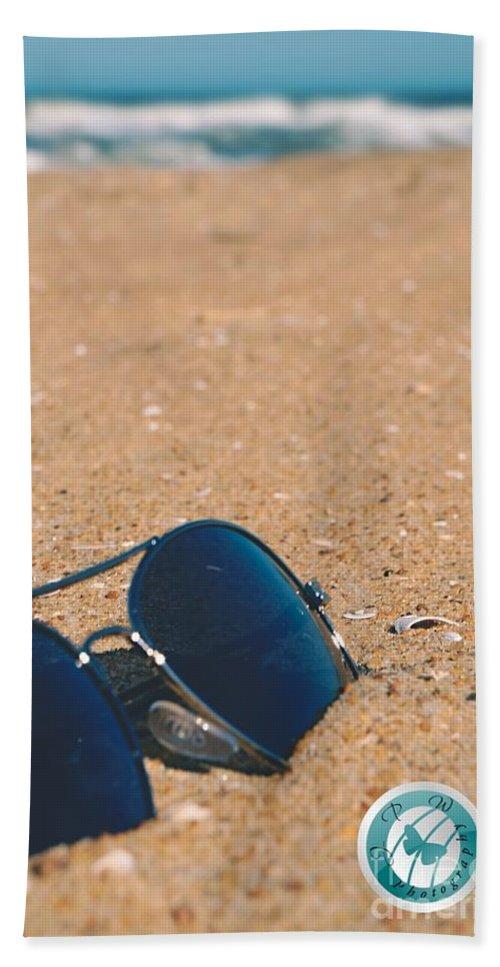 Beach Bath Sheet featuring the photograph Beach Retro by Jannice Walker