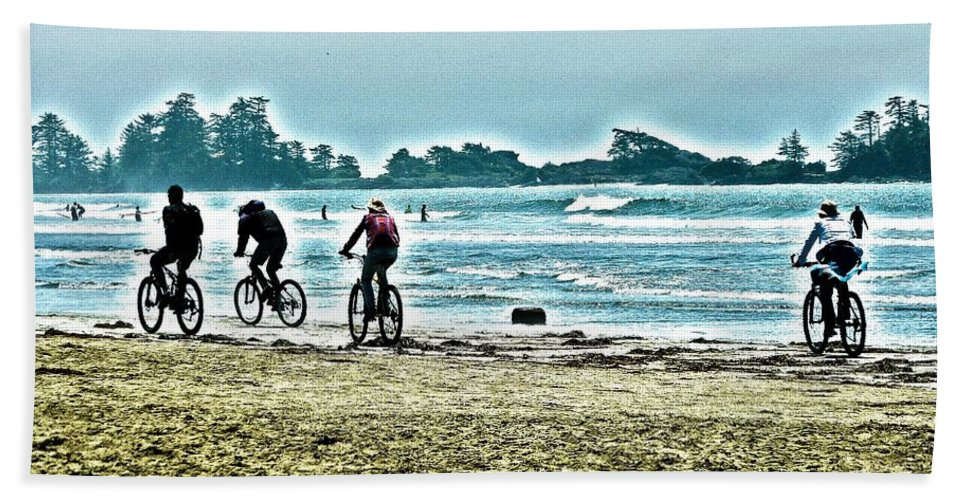 Tofino Hand Towel featuring the digital art Beach Ride by Alicia Kent