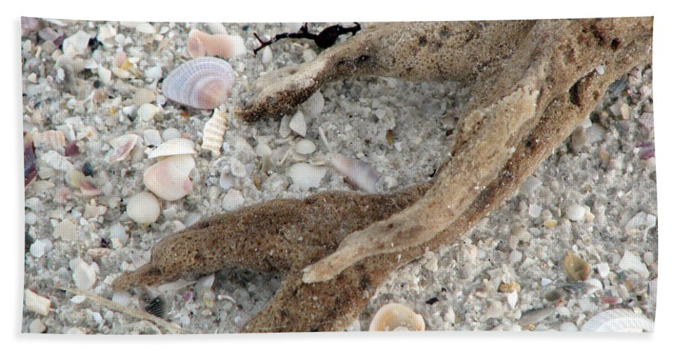Sand Hand Towel featuring the photograph Beach Scape by Amanda Barcon
