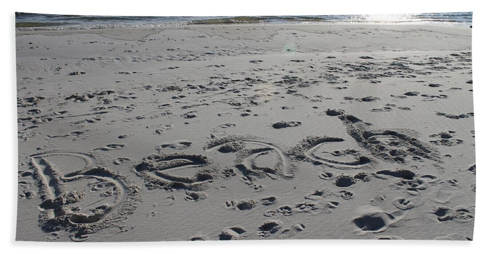 Beach Hand Towel featuring the photograph Beach, Self-named by Laura Martin