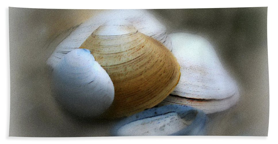 Nature Bath Towel featuring the photograph Beach Shells by Linda Sannuti
