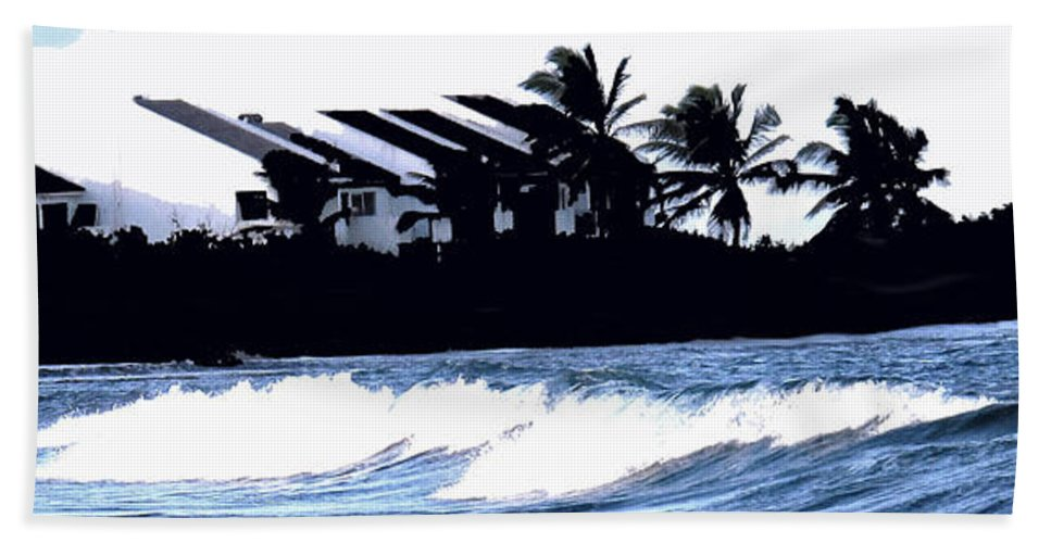 Beach Hand Towel featuring the photograph Beach Silhouette by Ian MacDonald