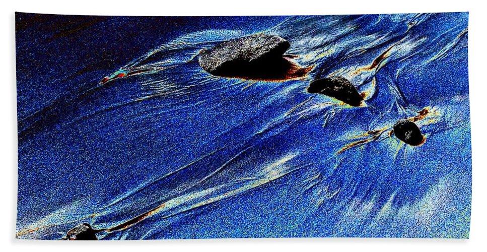 Beach Hand Towel featuring the photograph Beach Sinuosity by Tim Allen