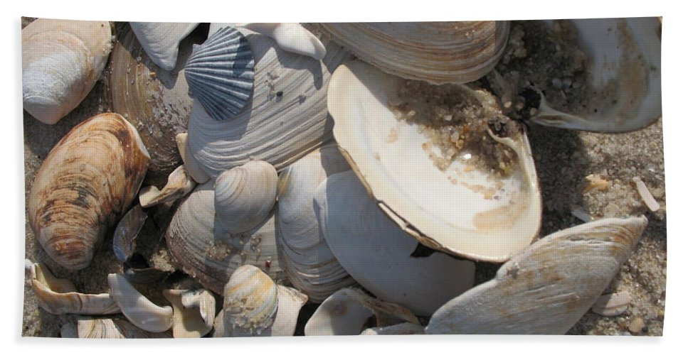 Beach Hand Towel featuring the photograph Beach Still Life IIi by Christiane Schulze Art And Photography