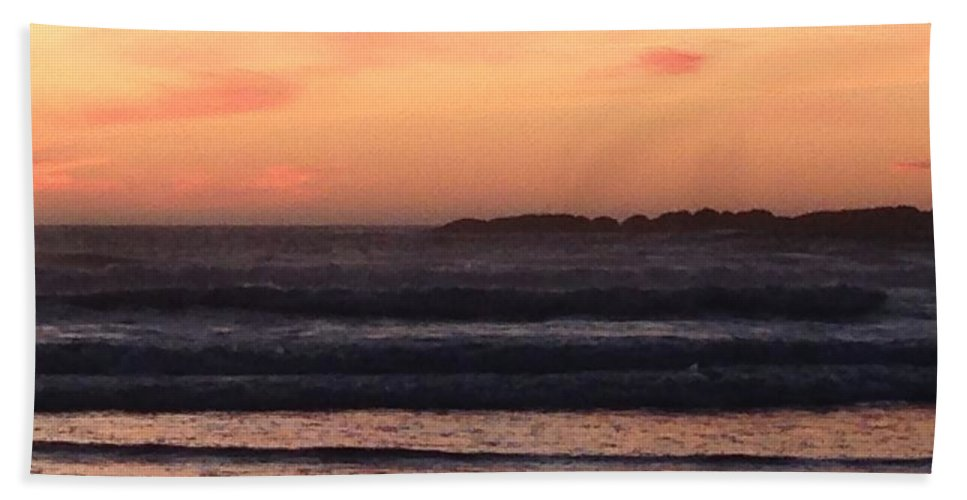 Sunset Bath Sheet featuring the photograph Beach sunset by Shari Chavira
