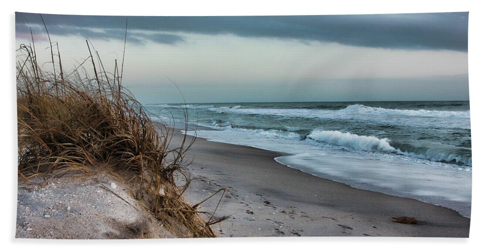 Beach Florida Art Hand Towel featuring the photograph Beach Surrender by Shari Jardina