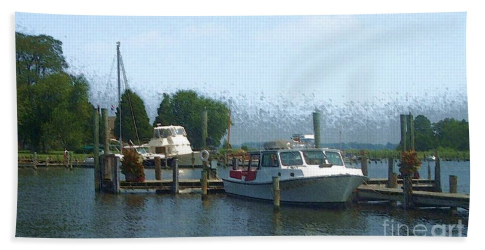 Boat Bath Towel featuring the photograph Beached Buoys by Debbi Granruth