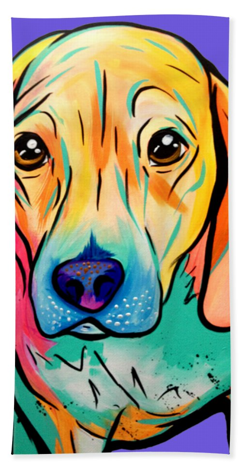 Blue Ridge Hand Towel featuring the painting Beagle by Abbi Kay