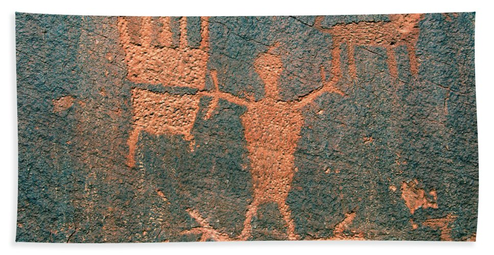 Ute Hand Towel featuring the photograph Bear Clan Horse Rider by David Lee Thompson