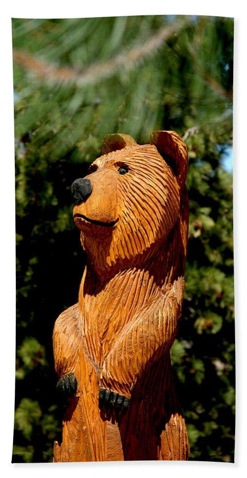 Usa Bath Sheet featuring the photograph Bear In Woods by LeeAnn McLaneGoetz McLaneGoetzStudioLLCcom