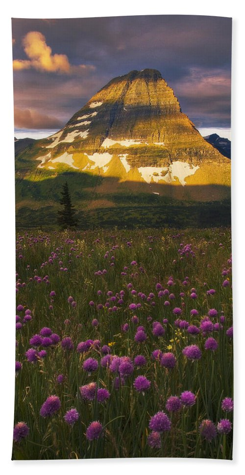 Glacier National Park Bath Sheet featuring the photograph Bears And Gumdrops by Peter Coskun
