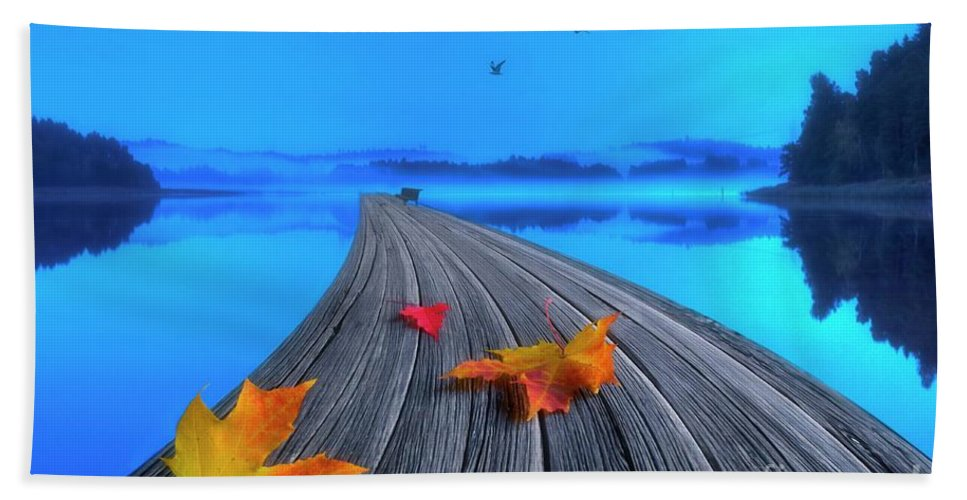 Artist Hand Towel featuring the photograph Beautiful Autumn Morning by Veikko Suikkanen